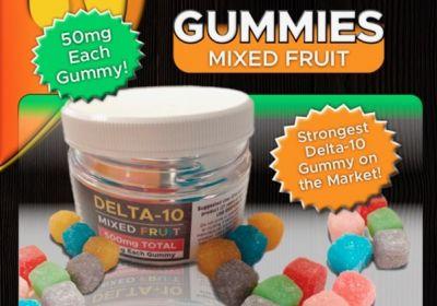 Delta 10 Gummies 25mg ea. 250 mg  total