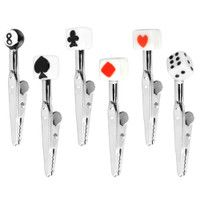 CLIPS-POKER AND DICE MEMO CLIPS
