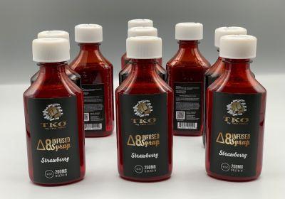 TKO Delta-8 Syrup 200mg-Strawberry