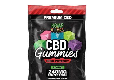Hemp Bombs 8-Count High Potency CBD Gummies